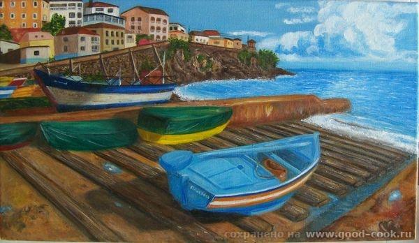 Маковый рай, холст, масло 40*50 Моя третья картина маслом, рисовалась легко за 3 дня Одинокий причал - 2
