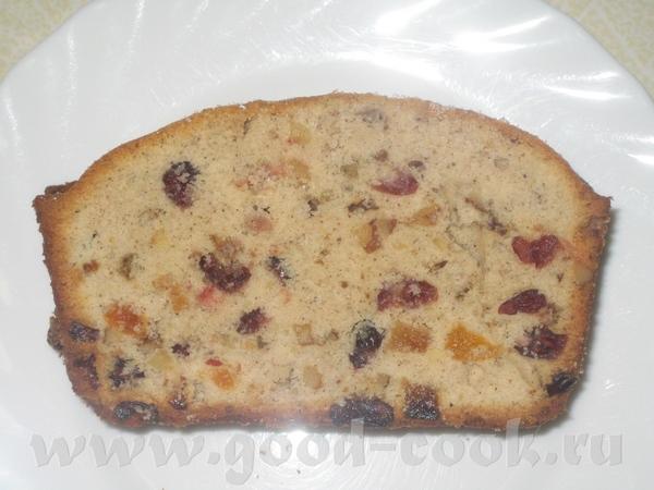 Клюквенно-абрикосовый кекс
