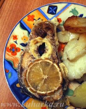 А у нас была семга, запеченная в сливках , картошечка и свежие овощи