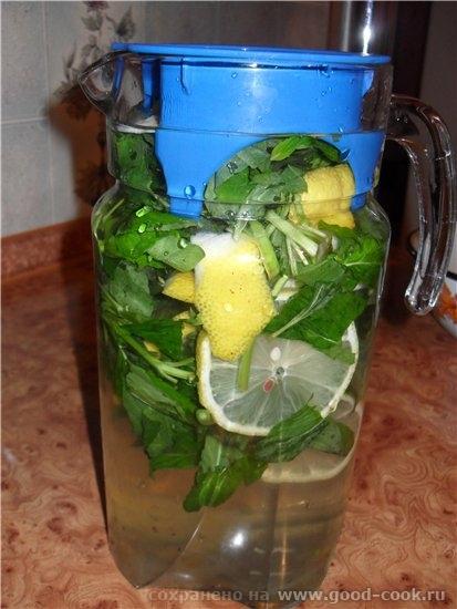 Мятный напиток с лимоном - Вода – 1 л