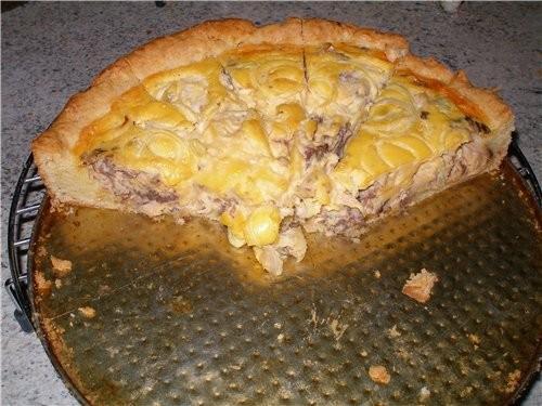 Открытый рыбный пирог со сметаной от Валерии остатки сладки - 2