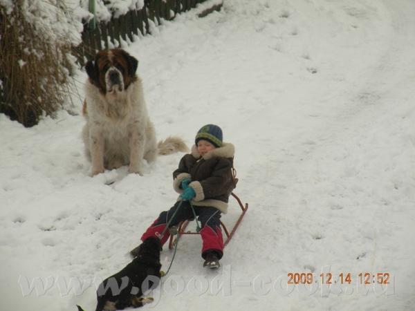 Девочки выпал снег и