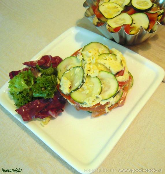 Блюда от , La Dolce Vita : Тимбал из цуккини и томатов Тимбал такой красивый, как у Нелли не получился,но на вкус это н...