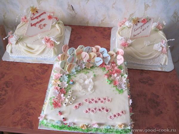 ...должен сидеть... сфоткать не успела.... этот для детишек. а вот и мои. хаска Людочка, торты просто сказка!!! .