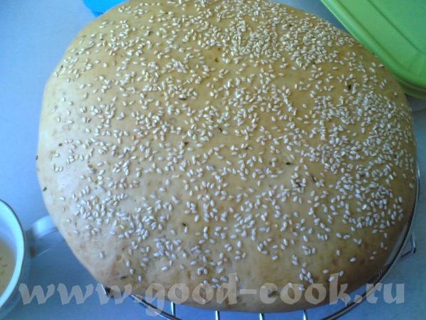 Лепешка пшенично-кукурузная с тмином и кунжутом