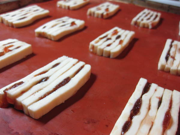 Слоеное печенье с джемом