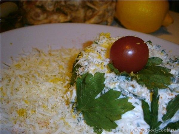 Салат из сельдерея, яблока и петрушки, с лимонным ароматом Понадобится: 200 г очищенного клубня сельдерея 1 крупное яб... - 2