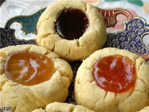 Приготовила сегодня очень симпатичные печенюшки с джемом