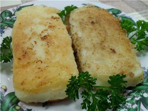 Зразы картофельные На одну порцию: картофель очищенный 175 гр