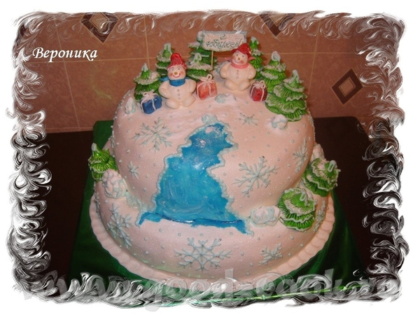 А у меня ещё один тортик, дочка заказала маме на 50-летие, просили сделать точно такой же как и пре...
