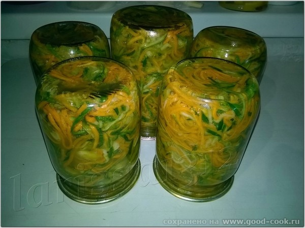 Салат по-корейски из огурцов и моркови