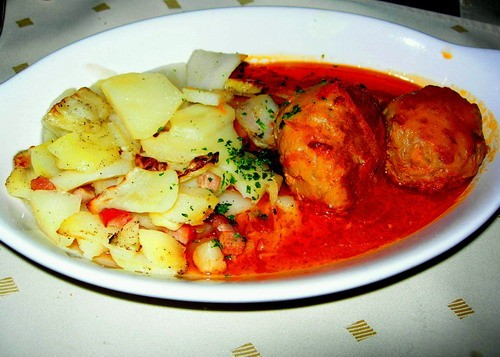 Ежики с картофелем по-пекарски судак по-сербски с овощами