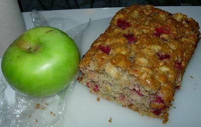 Яблочно-клюквенно-ореховый кекс 2 чашки почищенных и нарезанных яблок (брала семиренко и резала куб...