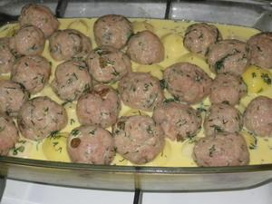 "Запеканка ""Колобки"" (из молодого картофеля и мяса) Ингредиенты: ■ 600 г молодого картофеля &#... - 4"