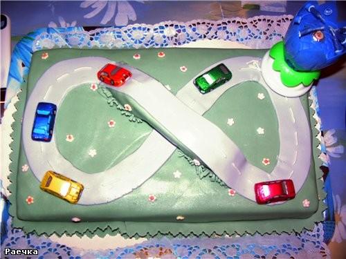 а вот мои тортики ко дню рождения сынули: Для детского сада и для дома - 4