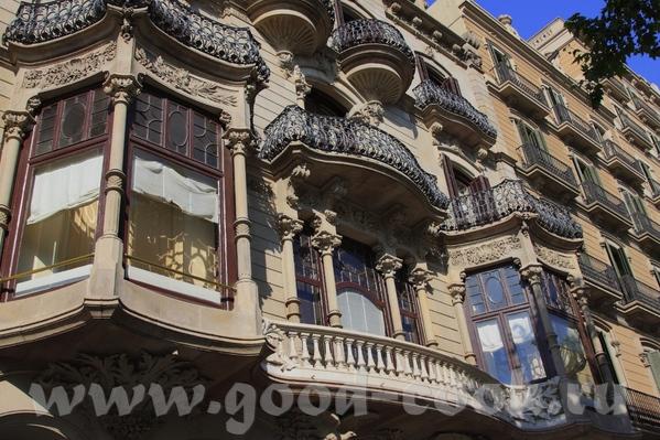 По приезду в Барселону мы прогулялись по проспекту Грасия - 4