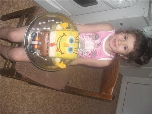 такой тортик я вчера спекла и вот фото-без прожилок-пузыреков - 2
