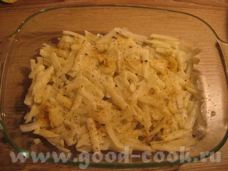 Картофельная запеканка с курицей и шампиньонами Потребуется куриное филе (у меня одна долька 200 г)... - 4