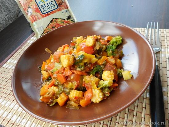 Овощи стир-фрай в воке