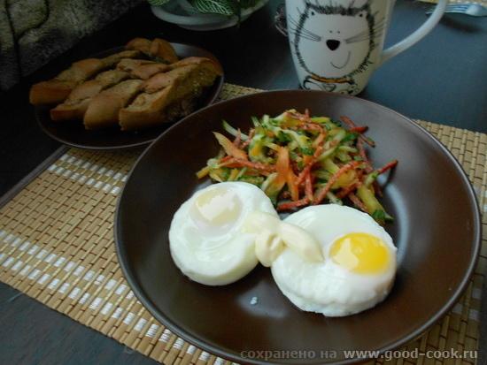 яйца с салатом