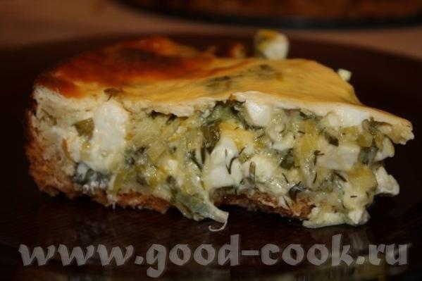 ВОт испекла вчера Пирог из лука-порея Рецепт ЗДЕСЬ Мужу очень понравилось, сидел охал-охал