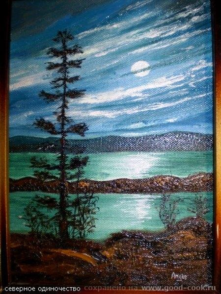 Мои первые картины, холст, картон, масло - 7
