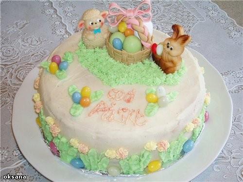 вот первый тортик на пасхальную тему