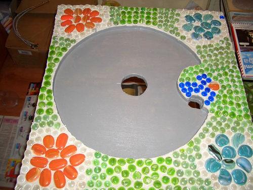 inusik Поделюсь конечно)) Мы вырезали из фанеры(толстой такой см 3), 2 заготовки для столика,одна с... - 2