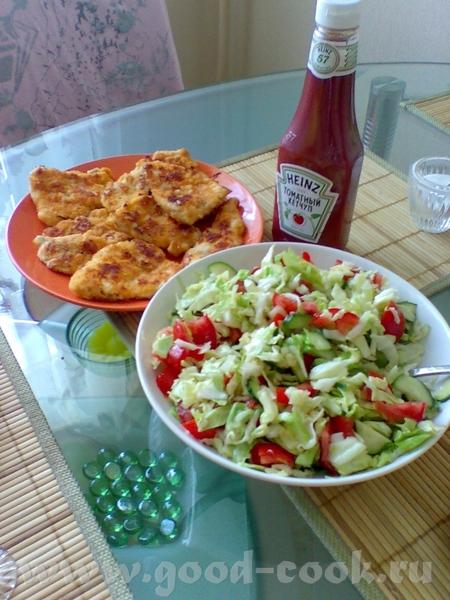 Суп с фасолью Куриные отбивные в сухарях и салат из овощей Приятного аппетита - 2