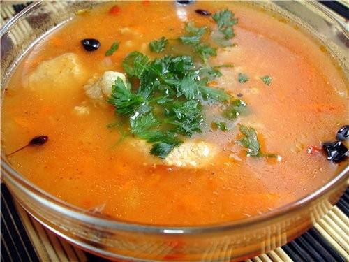 А я сегодня сново суп принесла, по рецепту Иришку, оооооочень вкусно