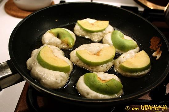 Оладышки с яблоками … очень вкусно - 5