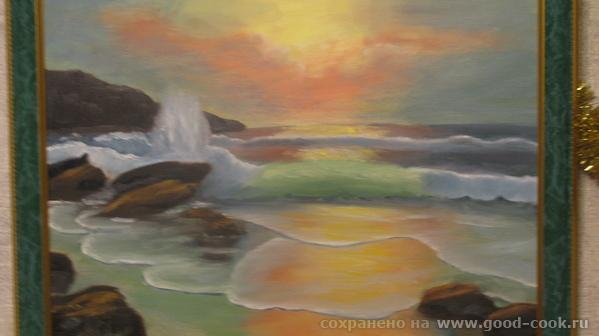 Море, копия с картины Айвазовского