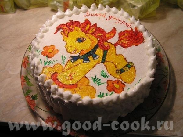 торт дочке на пятилетие