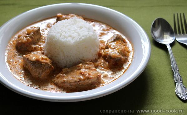 Курица в кремовом соусе (Chicken Tikka Masala).