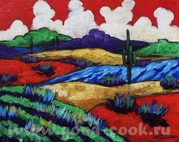 Xудожница Diane Barbee и её картины: Aкриловая краска - 3