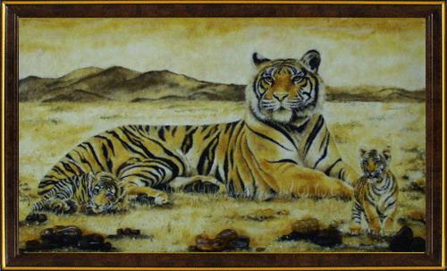 Может кому пригодится для рисунков В основном желтые тигры на календарях к 2010 году, но есть и бел... - 8