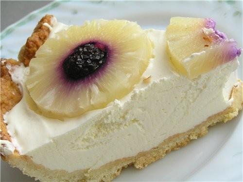 Тарт с лимонно-йогуртовым кремом и ананасами - 2