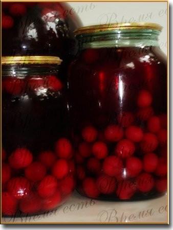 Компот вишневый На 3-х литровую банку Вишня Сахар 300 гр