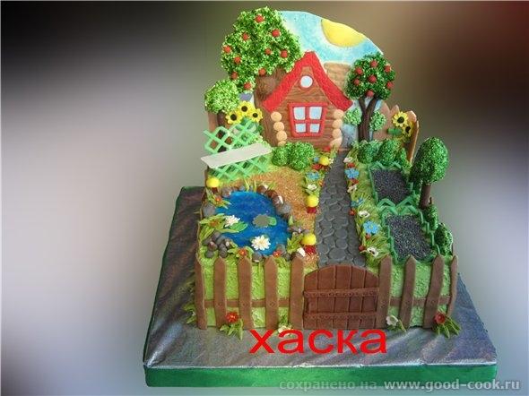 Торт домик с фотографиями