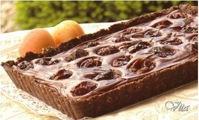 Бархатный Шоколадный Тарт с Черносливом ot Belochka