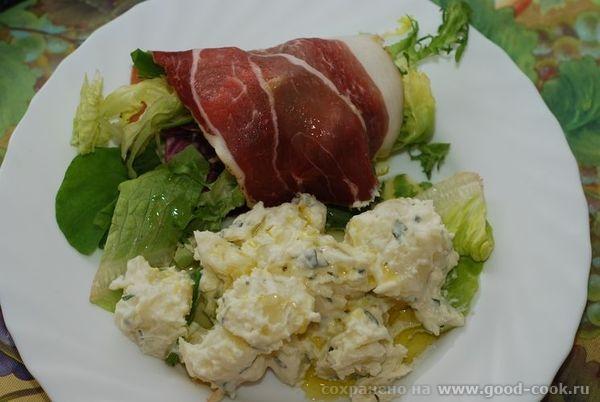 картофельный салат от Джейми Оливера 700гр молодого картофеля, почистить ( у меня обычный) сок 2 ли...