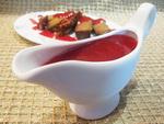 Брусничный соус на коньяке с анисом