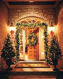 Рождественские хвойные венки и гирлянды - настоящие символы праздника - 4