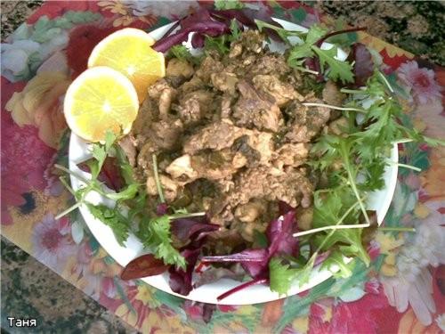 Мясо курицы с овощами в пикантном соусе Румяная курочка Курочка с картошкой Куриные грудка и печень... - 4