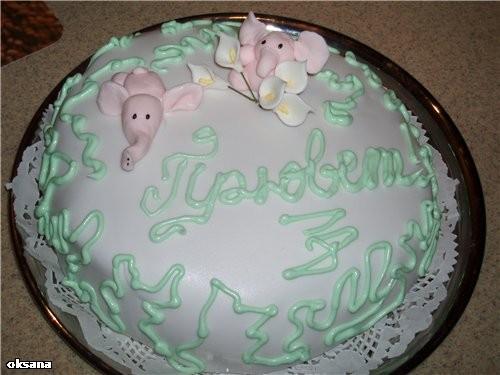 если торт будет покрыт мастикой, то достоит до гулянки