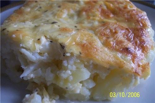Запеканка из картофеля и цветной капусты картофель - 5 шт
