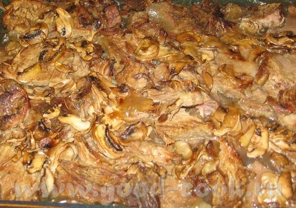 Тушеная баранина с картошкой Говядина в грибном соусе - 3