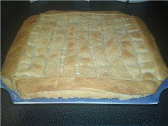 ПИРОГ С ЯБЛОКАМИ И СЫРОМ собственно процесс приготовления: беру готовое дрожжевое слоеное тесто и р... - 2