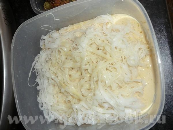 Запеканка по-китайски Впрочем, кроме китайской рисовой лапши в этой запеканке ничего китайского нет - 5