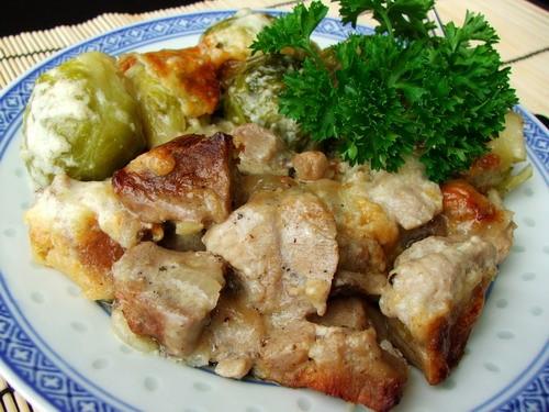И снова рецепт с брюссельской капустой, тоже очень просто и вкусно